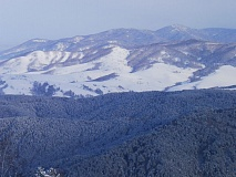 Mountains of Belokurikha in winter..